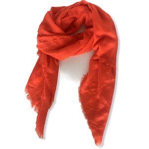 H&M Orange Large Knit Scarf